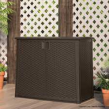 Suncast  Gal Resin Outdoor Patio CabinetBMOC The Home Depot - Exterior storage cabinets