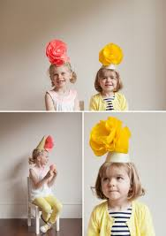 Paper Flower Hats Giant Paper Flower Party Hats Diy