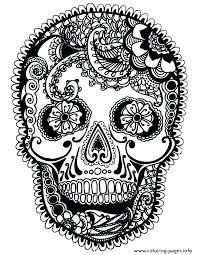 Sugar Skull Coloring Page Coloring Book Fun Acessorizame