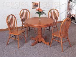 solid oak veneer empire design table set