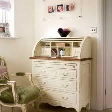 vintage desks for home office. Secretary Desk In White Color Vintage Desks For Home Office