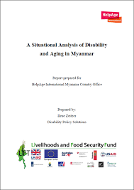 Aging Analysis A Situational Analysis Of Disability And Aging In Myanmar Helpage