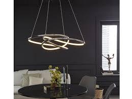 Dimmbare Led Pendelleuchte Silber 69x95cm Modernes Design