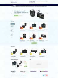 Ecommerce Website Templates Magnificent Ecommerce Website Designs Psd E Commerce Camera Store Website