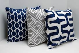 navy and grey throw pillows. Perfect And Navy Blue And Gray Pillow Covers 18x18 Inch Pillow Covers Throw Pillows  Decorative Via Etsy Intended And Grey Y