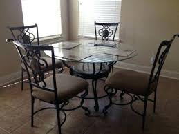 wrought iron glass top kitchen table glass top kitchen table with four wrought iron chairs wrought