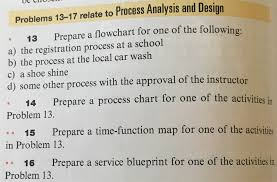 Car Wash Flow Chart Solved Problems 13 17 Relate To Process Analysis And Desi