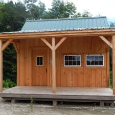 prefab garden office. 16x16 Homesteader Exterior Showing This Cabin With A Four Foot Porch Prefab Garden Office N