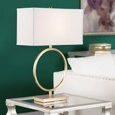 amusing table lamps with rectangular shades on a glass table with steel legs and shade lamp