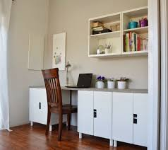 Ikea office hacks Workspace Diy Stuva Desk Hack via Ikeahackers Shelterness 11 Exciting Ikea Hacks For Any Home Office Shelterness