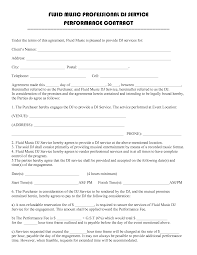 7 Artist Performance Contract Template Word Pdf Docs