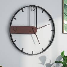 wall clock iron art hot living