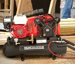 gas air compressor. northstar gas-powered air compressor honda engine 8-gallon twin tank gas