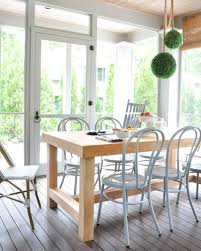 furniture for screened in porch. Bentwood Dining Table And DIY Room Decor Using Screened In Porch Furniture For