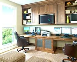 two desk office. Home Office Ideas For Two Dual Desk Sided . Person