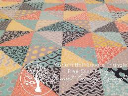 Modern Half-Square Triangle Quilt | Free Layer Cake Quilt Pattern ... & Modern Half Square Triangle Quilt Pattern Adamdwight.com