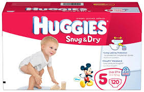 Huggies Snug Dry Diapers Size 5 Giant Pack 120 Count