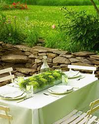 garden party ideas. Checkered Moss Centerpiece Garden Party Ideas