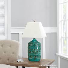 better homes and gardens teal ceramic table lamp base