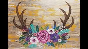 painting flowers on canvas with acrylic paint learn how to paint deer antlers with or