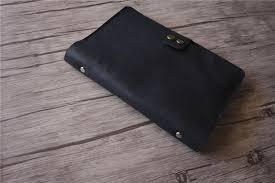 black leather journal engraved