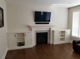custom built in fireplace cabinets