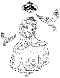 Small Picture Sofia The First Robin And Mia Coloring Page Birthday Party Ideas