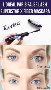 l oreal paris false lash superstar x fiber mascara review plus before and after photos