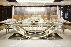 luxury dining room sets marble. Luxury Modern Formal Dining Room Sets Design With Glass Table And Metal Base Plus Brown Marble R