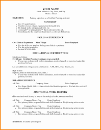 List Of Cna Skills For Resume Resume Template
