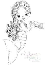 Free Coloring Pages Whimsy Mermaid And Shark Blankets Free Coloring