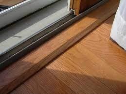 transition strips sliding glass door