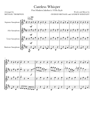 careless whisper tenor sax sheet music careless whisper sheet music for soprano saxophone alto saxophone