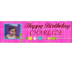 happy birthday customized banners personalized photo happy birthday girl banner party customized banner balloon