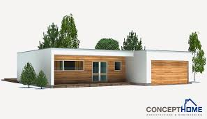 ch167 small modern beach house plan beach house plans