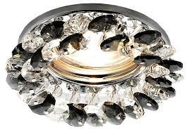 <b>Встраиваемый светильник Ambrella light</b> K206 BK/CH, хром/черный