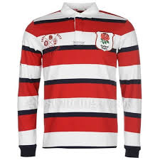 rfu england heritage long sleeve rugby jersey mens 0uo998 red navy white t shirts ing mens clothing