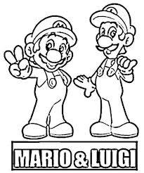 Mario And Luigi Printables Free Coloring Library