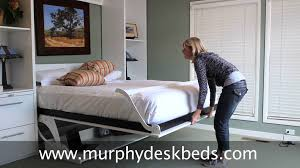 wall bed with desk. Murphy DeskBeds Queen Vertical In White - Bed With A Modern Twist Wall Desk