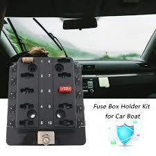 compare prices on mini fuse box online shopping buy low price cimiva 12v 24v 32v 10 way mini blade fuse box holder kit for car boat