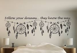 Dream Catchers With Quotes Dream catcher quote wall art decal Dream catcher wall decal 63