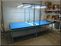workstation lighting. Double-Sided Table With Overhead Lighting Workstation