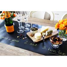 kitchen papers chalkboard table runnerchalkboard table runner set chalkboard paper roll uncommongoods