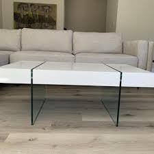 safavieh jacob rectangular glass leg