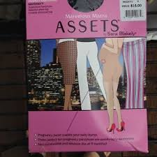 Details About Marvelous Mama Assets Perfect Pantyhose Sz 2 Black Maternity Spanx Sara Blakely