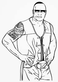 Small Picture The Rock WWE Coloring Pages Free Printable Coloring Pages For Kids