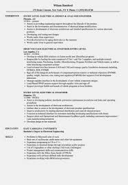 Entry Level Mechanical Engineer Resume Electrical