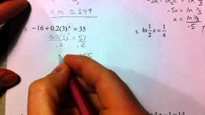solving exponential and logarithmic equations part 1