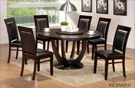 dining table chairs leather. 7 pc richmond collection round espresso finish wood dining table set with leather like vinyl upholstery on the seats and backs chairs