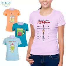Tea Collection Size Chart Inspi Tees Ladies Milk Tea Collection Tshirt Printed Graphic Tee Ladies T Shirt Shirts Women Tshirts For Women Womens Tshirt Sale
